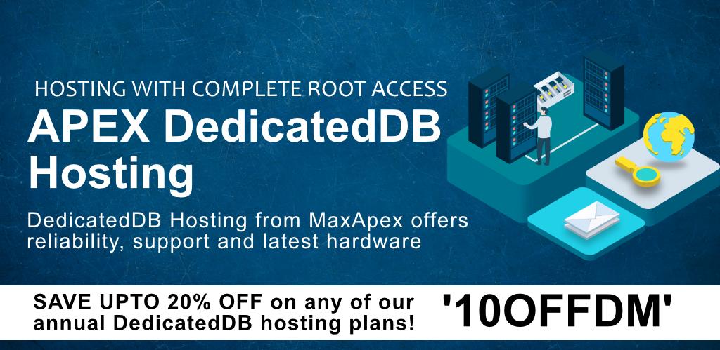 oracle apex DedicatedDB hosting