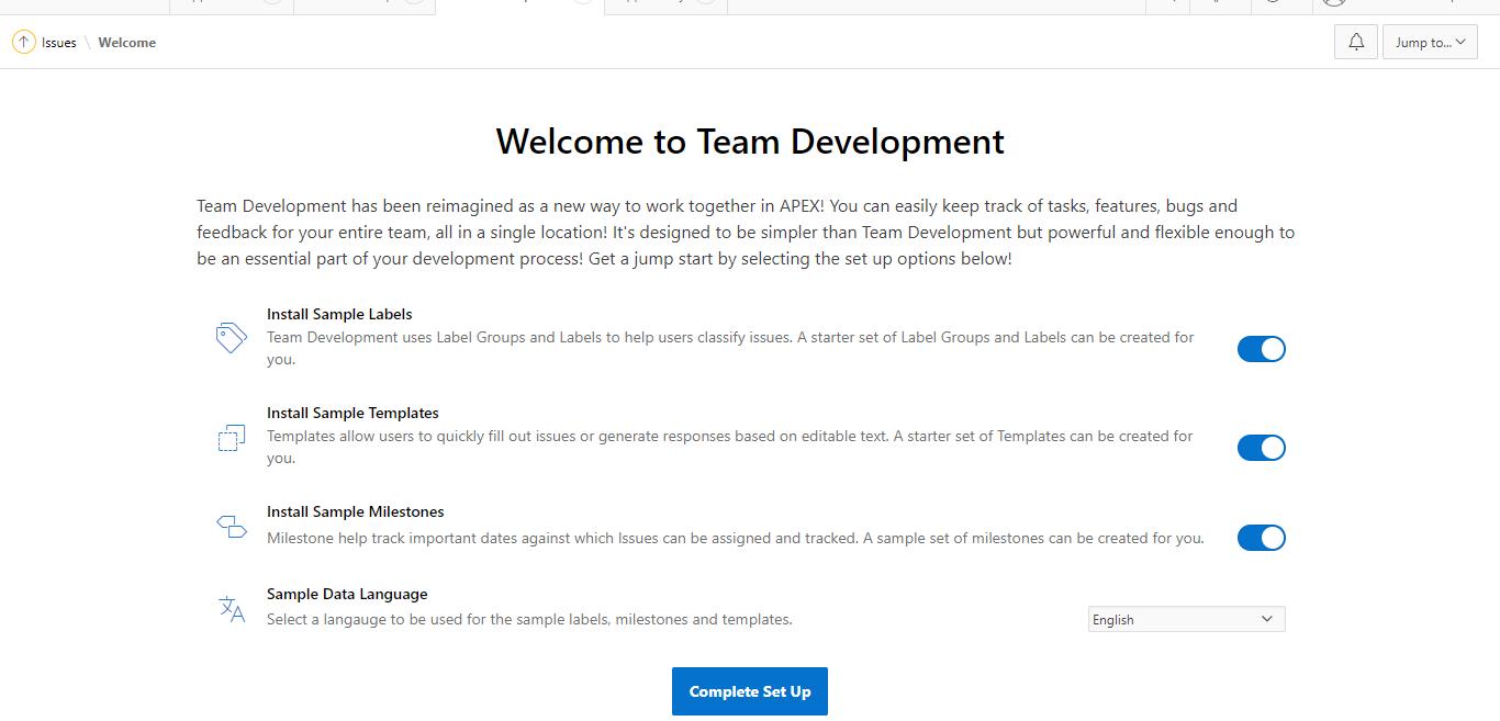 team development oracle